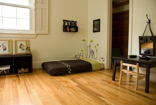 Maria montessori habitaciones montessori desde el nacimiento - Camas pegadas ala pared ...