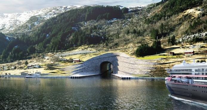Terowongan Menembus Perut Gunung Akan Dibangun di Norwegia