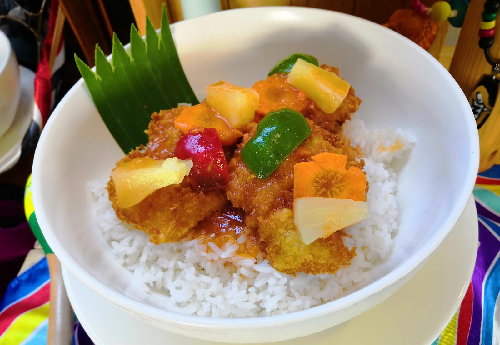 Sweet and Sour Fish Fillet Rice Bowl.