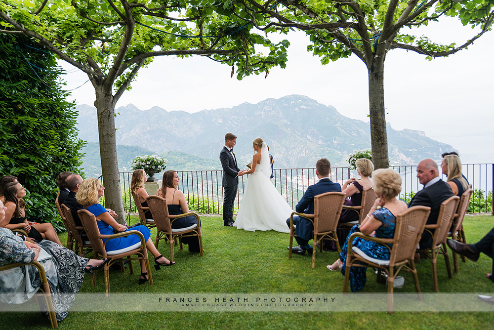 Wedding ceremony at Villa Eva in Ravello