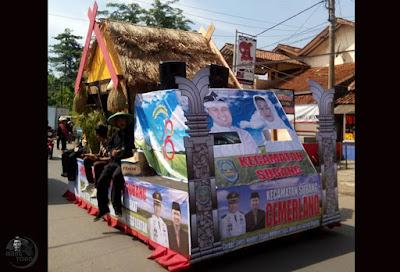 Pawai Pembangunan Meriahkan HUT Kab. Subang ke-68 dari Kecamatan Subang. Foto dapet nyomot dari Abdul Manan