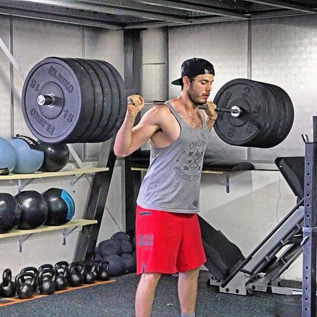 Grégory Capra: Squat à 130 kg pour Loïc