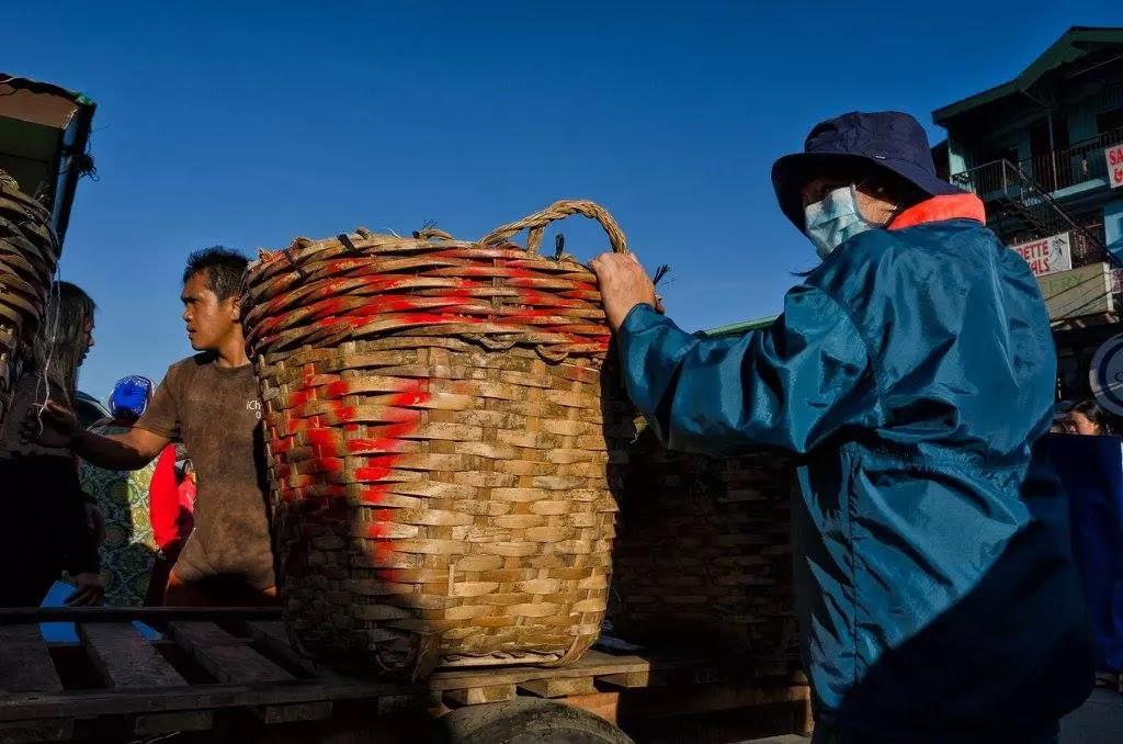 Woven Produce Tiklis Basket Trading Post La Trinidad Benguet Cordillera Administrative Region Philippines
