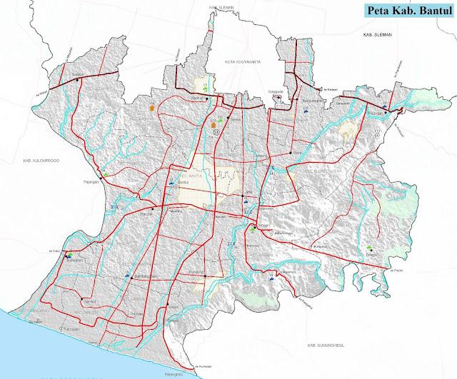 Peta Kabupaten Bantul HD