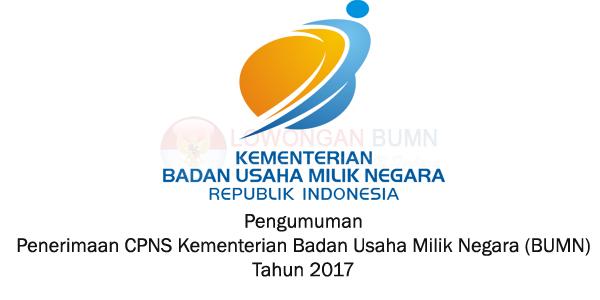 Rekrutmen CPNS Kementerian Badan Usaha Milik Negara (BUMN) Tahun 2017