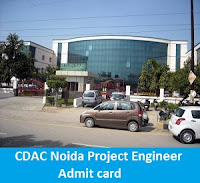 CDAC Noida Project Engineer Admit card