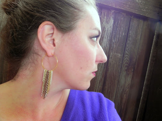 DIY ~ Chain Fringe Earrings