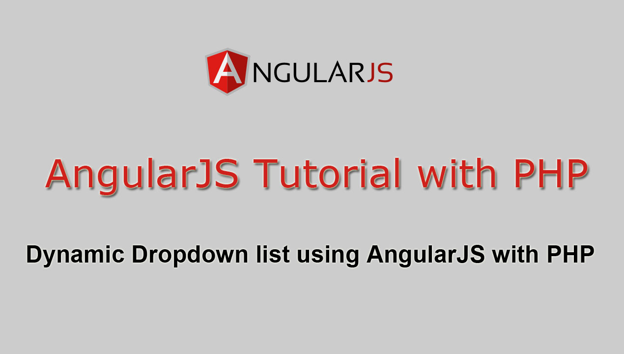 Dynamic Dropdown list using AngularJS with PHP | Webslesson
