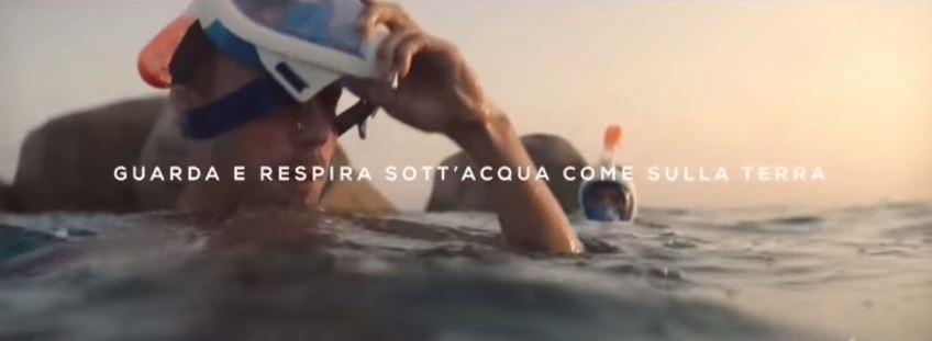 Canzone Decathlon Pubblicità maschera respira sotto acqua, Spot Giugno 2018