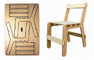 diseño de silla muy ingeniosa para armar