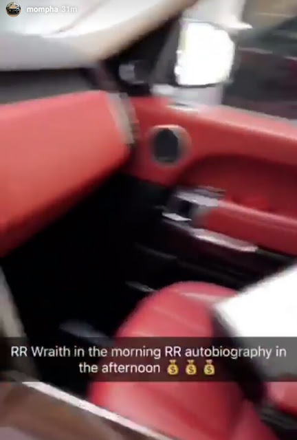 """""""Rolls Royce Wraith in the morning, Range Rover Autobiography in the afternoon"""" - Flamboyant businessman Mompha, brags on Instagram"""