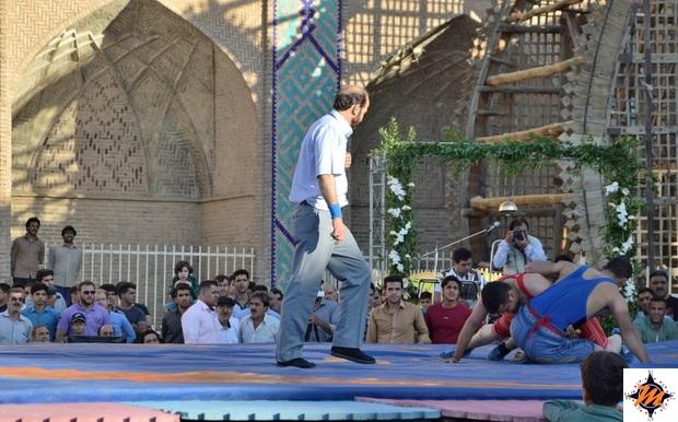 Wrestling nella città di Yazd