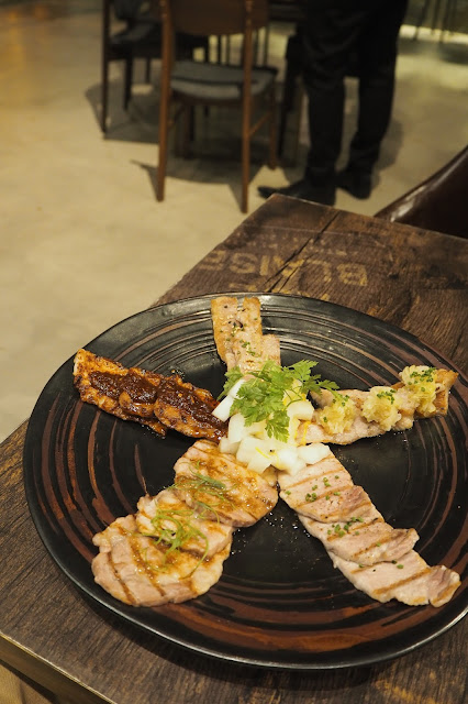 best grilled iberian pork platter cast iron restaurant