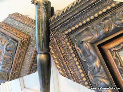 picture molding corner pieces art