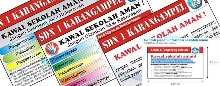 Kumpulan Desain Spanduk Papan Informasi Sekolah Aman