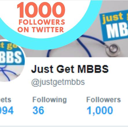 1000 Followers on Twitter