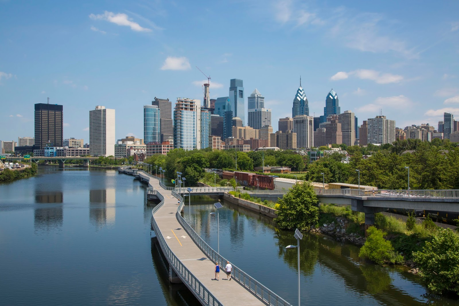 Schuylkill Banks Boardwalk Philadelphia