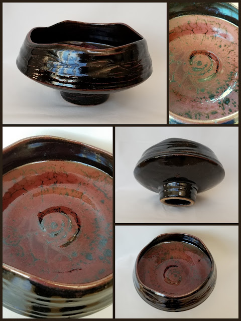 Tony Clennell inspired large pedestal bowl by Lily L.
