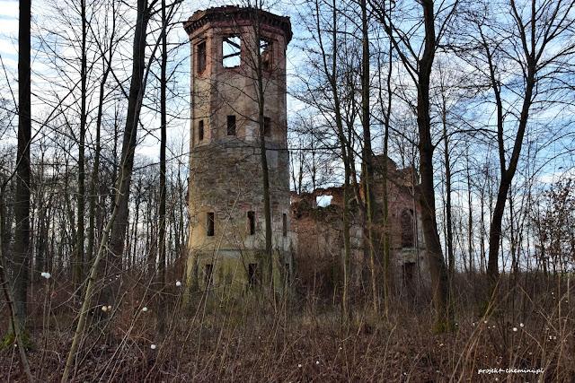 Ruina pałacyku w Uboczu Kolonia