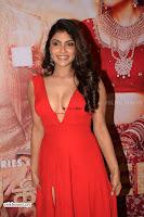 ishita Raj Sharma in Red Gown Stunning Beauty at success party of film sonu ke u ki sweety 017.jpg