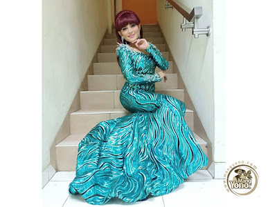 FOTO 4 : JAMILA Subang  BP5  Gaun Glamornya saat tampil di 12 Besar