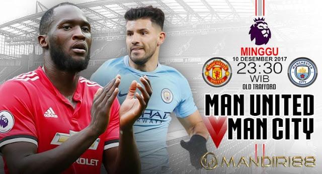 Manchester United dan Manchester City akan saling berhadapan pada pertandingan pekan ke Berita Terhangat Prediksi Bola : Manchester United Vs Manchester City , Sabtu 10 Desember 2017 Pukul 23.30 WIB @ RCTI
