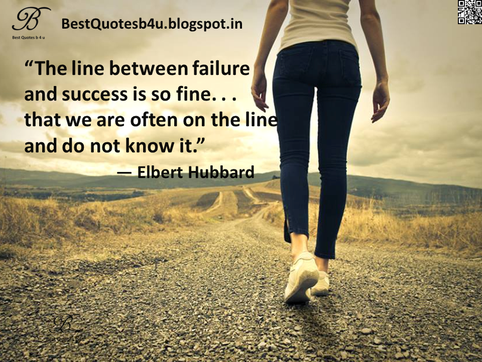 Inspirational quotes about Success and failure by Elber Hubbard with beautiful images and hd wallpapers