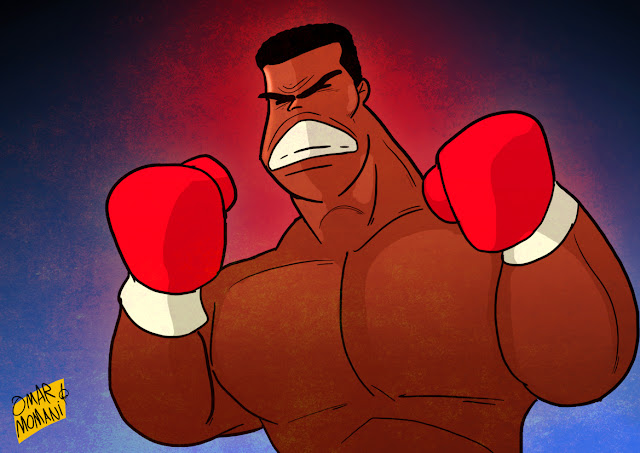 Muhammad Ali cartoon
