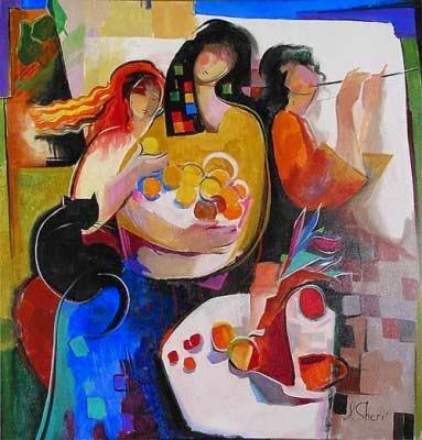 Encontro Festivo - Irene Sheri e suas românticas pinturas