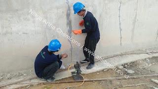 injeksi beton bocor