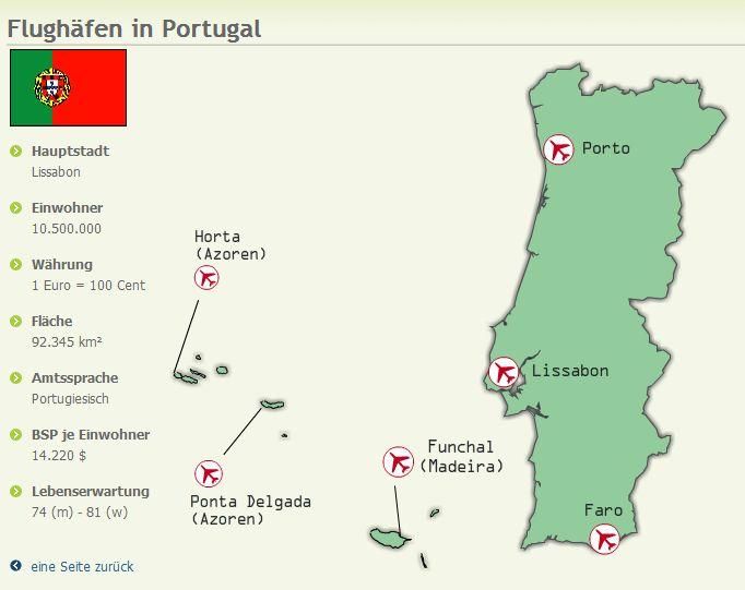 Flugplan Porto