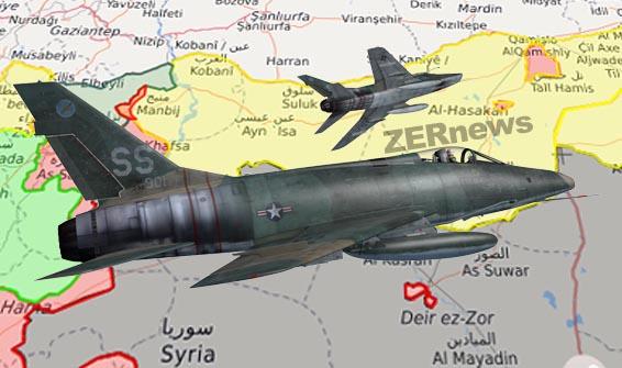 Rojava DSG Suriye Uçak ABD Koalisyon Güçleri QSD