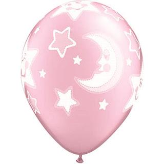 воздушные шарики  с луной и звездами