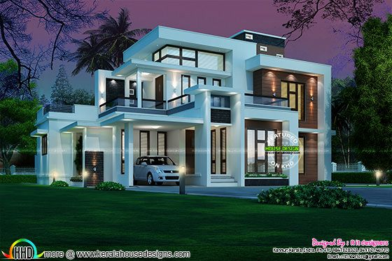 Box Model Contemporary 2215 Sq Ft 45 Lakhs Kerala Home