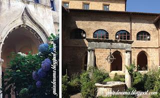 patio santa escolastica subiaco arco ogival - O Monastério de Santa Escolástica - bate e volta a partir de Roma
