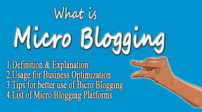 definition of micro-blogging, list of micro-blogging platforms, tips for micro-blogging, what is micro-blogging