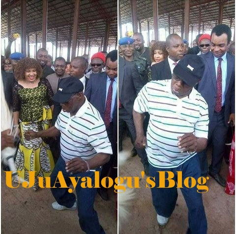 80-year-old Obasanjo Excites Dignitaries With His Dancing Skills Wearing Jeans, Sneakers in Ebonyi (Photos)