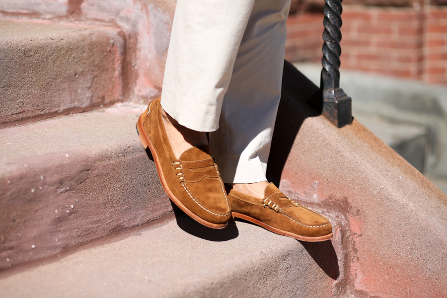Levitate Style, Allen Edmonds Suede, Summer, Sharp Casual, Leo Chan