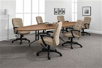 Alba Conference Table with Elliptical Top