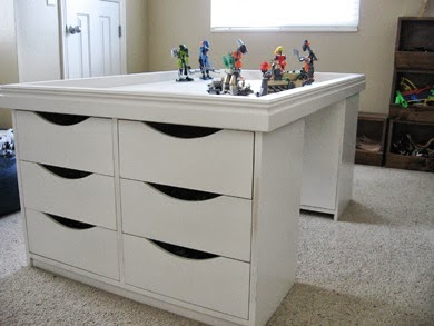 Lego Table with Railing