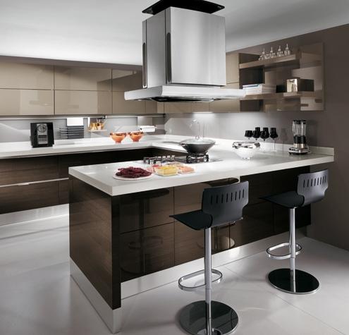 Consigli d 39 arredo il colore marrone nell 39 arredamento - Colore parete cucina noce ...