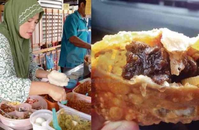 Karipap Inti Daging Lada Hitam Saiz Besar 'Muka' Di Georgetown