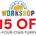 $15 Off Build-A-Bear Coupon! $15 Off A Make Your Own Furry Friend