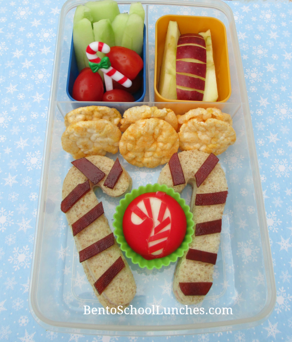 Candy Cane, Christmas bento school lunch