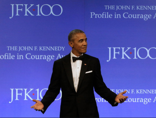Obama receives JFK Courage Award