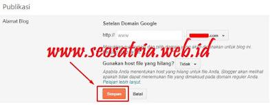 Cara Mengganti Domain Blogspot Ke Domain Sendiri - Seosatria.web.id