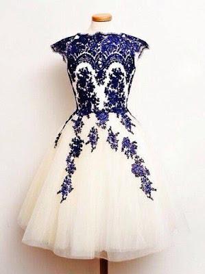 Stylish Blue in white full set dresses for EVE