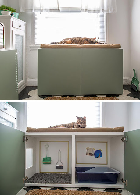 cat box, litter box, mess-free,