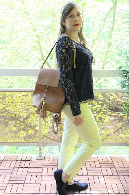 pantalon jaune camaieu