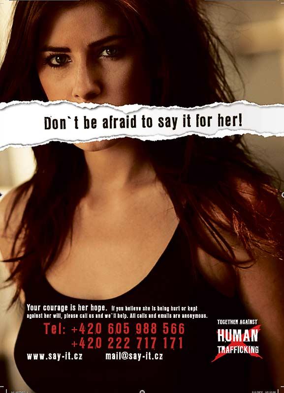 anti sex trafficking slogans in Anaheim